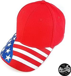 Quality 6 Panel Cotton USA Flag Curved Visor Baseball Snapback Dad Hat Men Women Embroidered Cap #2014