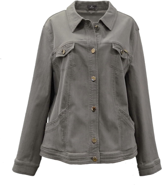 Basler Women's Stretch Fit Denim Jacket Grey