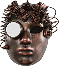 KAYSO INC The Black Smith Victorian Steampunk Bauta Full Face Masquerade Mask