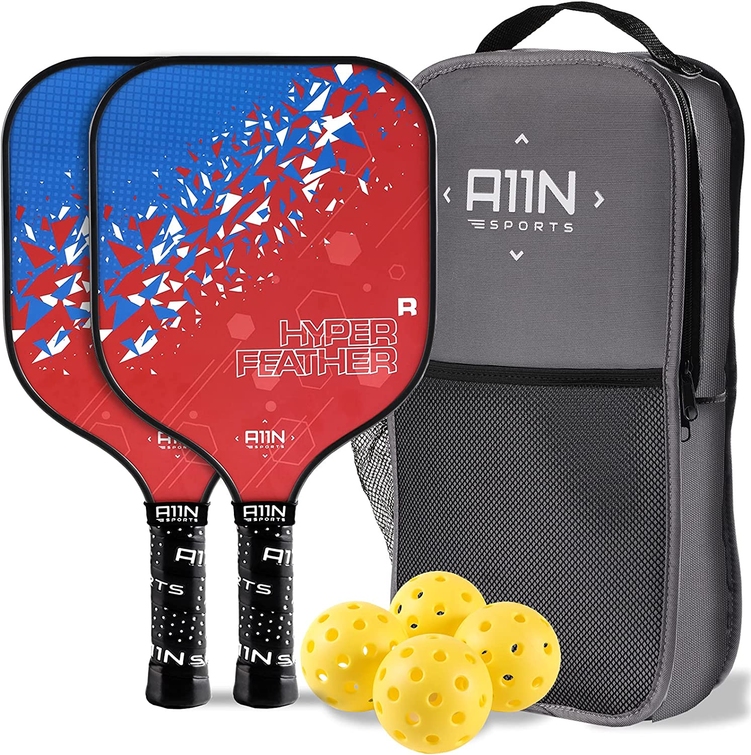 A11N HyperFeather R Pickleball Paddles Set with of Super beauty product Max 58% OFF restock quality top Rackets 2 4