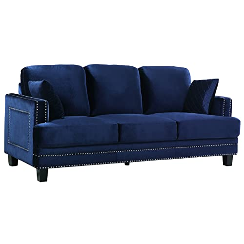Wondrous Blue Velvet Couch Amazon Com Ncnpc Chair Design For Home Ncnpcorg