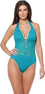 Bleu Rod Beattie Womens Sheer Thing One-Piece Swimsuit One Piece Swimsuit