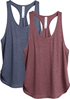 icyzone Workout Tank Tops for Women - Athletic Yoga Tops, Racerback Running Tank Top(Pack of 2)