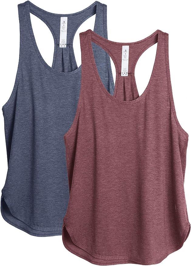 2232 opiniones para icyzone Camiseta sin Mangas de Fitness para Mujer Chaleco Deportivo, Pack de 2