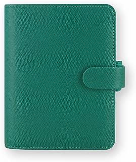 Filofax C022526 Saffiano PU Leather Pocket Organizer with Jot Pad Refill, Aquamarine