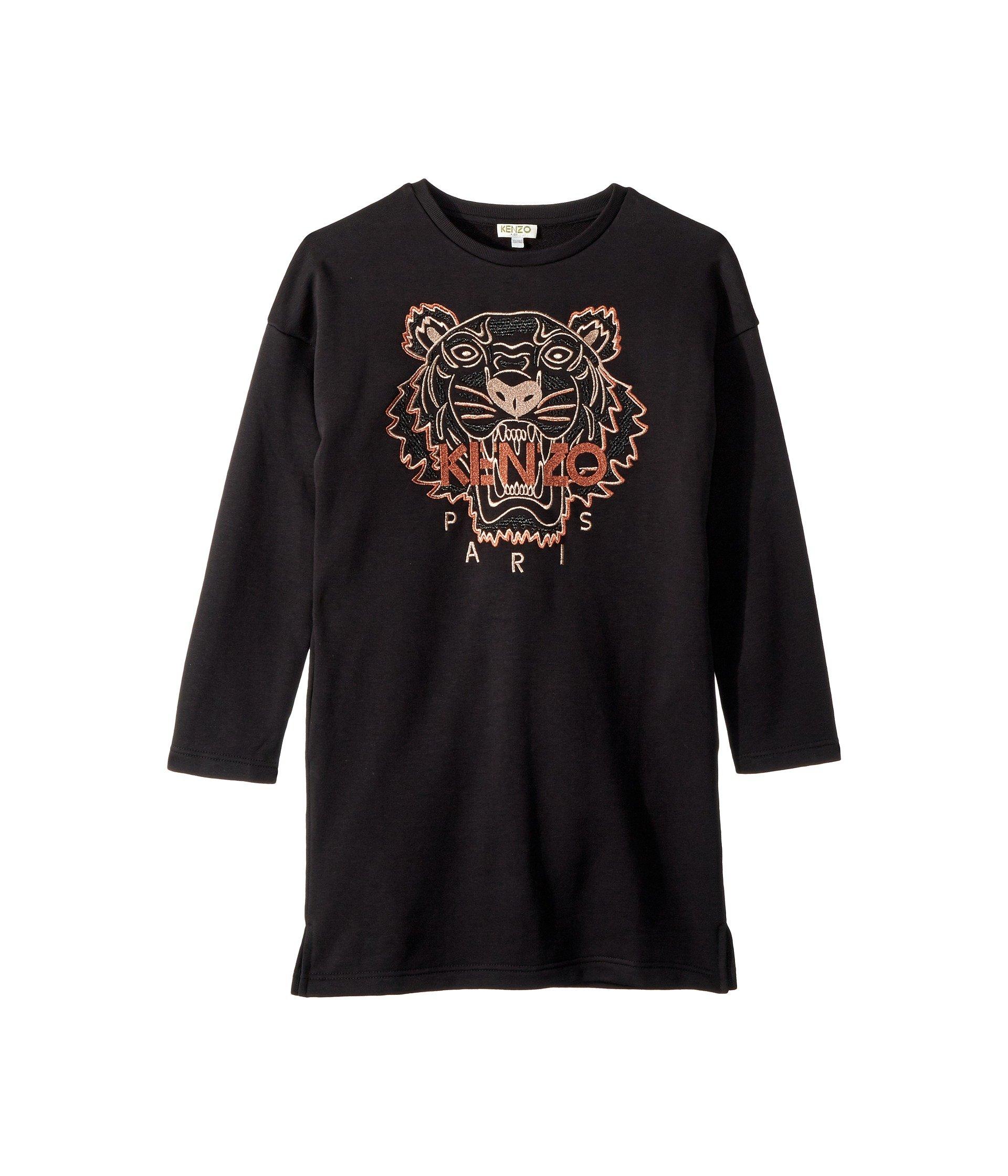 2d01e4a63d1e Kenzo Kids Copper Tiger Dress (Big Kids) at Luxury.Zappos.com