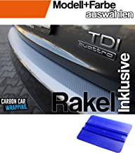 ASX Ladekantenschutz Lackschutzfolie mit Profi-Rakel in 3D Carbon Silber