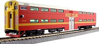 Kato USA Model Train Products Pullman Rock Island #CC115 Bi-Level 4-Window Cab Coach