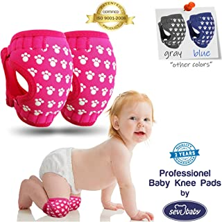 Professional Baby Knee Pads for Crawling - Ergonomic Anti-Slip Knee Pads - Soft and Breathable Baby Knee Pads - Adjustable Knee Warmer and Protector for Babies