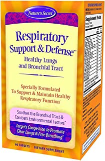 Nature's Secret Respiratory Support & Defense Promotes Healthy Lungs & Bronchial Tract - Natural Soothing 14 Botanical Ble...