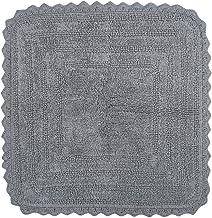 "DII 100% Cotton Crochet Square Luxury Spa Soft Bath Rug, for Bathroom Floor, Tub, Shower, Vanity, and Dorm Room, 24x24"" - ..."
