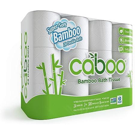 Caboo Papel Higiénico De Bambú Natural Séptico Seguro Biodegradable Papel Higiénico Ecológico Suave 2 Capas Hojas Cbt300 12 1 1 Health Personal Care