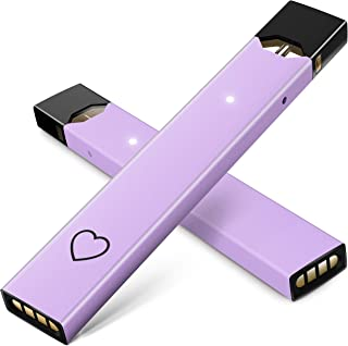 "(2 Pack) Aesthetic Purple &""Photo Like"" Heart Skin Sticker for Juul 
