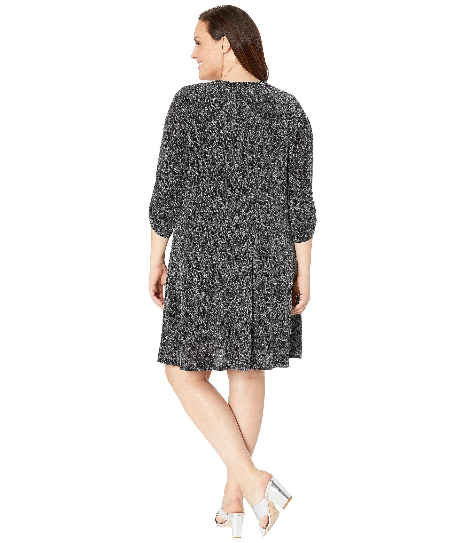 Metallic Plus Dress Silver Karen Taylor Kane Size PUxqqBI5