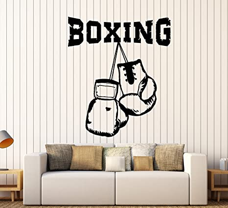 Boxing Vinyl Decal Wrestling Gym Boxing logo,Judo Decor Personalized Classic Boxing Boxing Sticker Fighter Custom,Boxing Gloves GE076