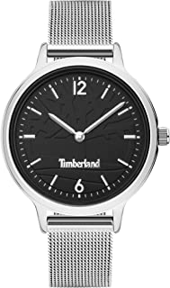 Timberland Moulton Women's Analogue Quartz Watch with Black Dial and Silver Stainless Steel Bracelet - TBL.15963MYS-02MM