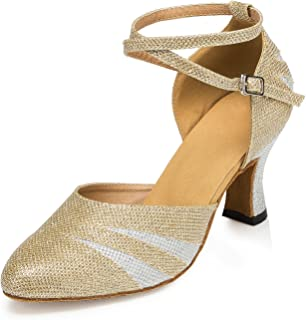 Honeystore Kitten Heel Mary Jeans Glitter Dance Shoes