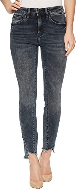 Tess High-Rise Ankle Super Skinny in Twisted Dark Ink