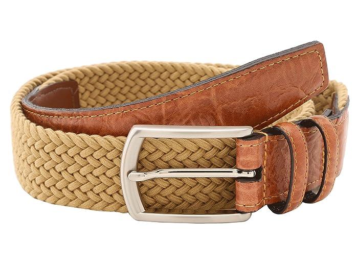 Torino Leather Co. 32MM Italian Woven Multi Cotton Elastic (Khaki) Men
