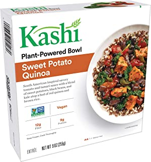 Kashi,Bowl, Sweet Potato Quinoa, Vegan,Non-GMO Project Verified, Single Serve, 9 oz
