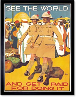 Wee Blue Coo Political Propaganda Military Enlist British Army Colonial UK Art Print Framed Poster Wall Decor 12x16 inch