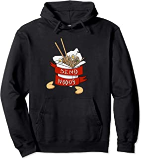 Send Noods Funny Ramen Japanese Noodle Take Out Chopsticks Pullover Hoodie