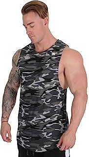يونغلا قمصان طويلة تانك للرجال قميص العضلات كمال الاجسام الصالة الرياضية التدريب الرياضة ارتداء كل يوم 306