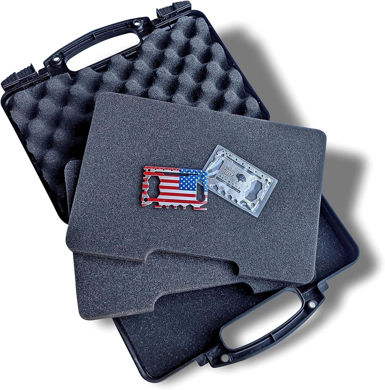 Black Hard Gun Case Pistol Daily bargain sale Lifelong-Durability trust TSA Approved