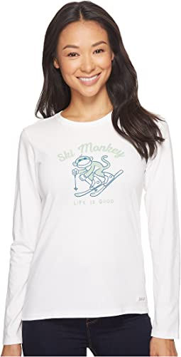 Ski Monkey Long Sleeve Crusher Tee