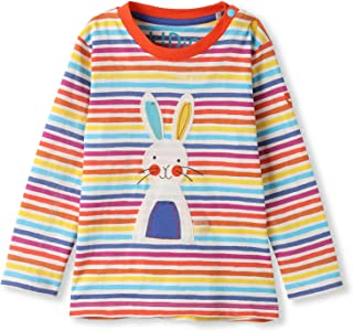 Organic Cotton Applique Baby Infant Toddler Long Sleeve Top - Girl Boy Tee Shirt Blouse (0-4 Years)