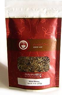Sponsored Ad - Mahamosa Winter Berries Tea 8 oz, Loose Leaf Herbal Herb Tea Blend (with strawberry leaves, raspberry leave...