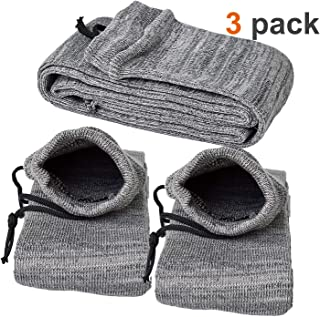 lanhe tactical Silicone Treated Gun Sock Knit Sleeve Case Dust Cover Outdoor Shooting Hunting Sack Storage Bag for Rifle Shotgun/Handgun Pistol, 52 inch/14 inch, 3 Pack