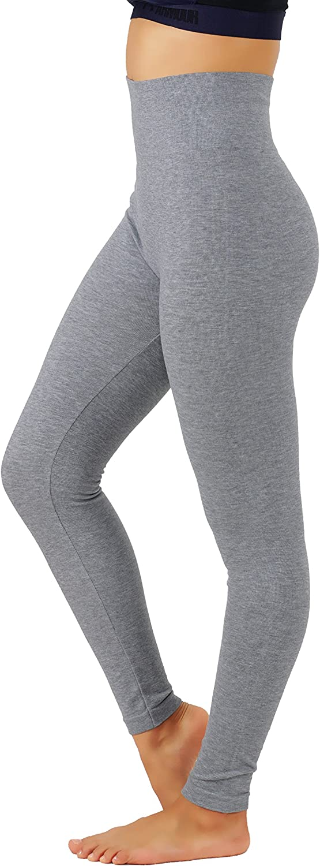 KVKSEA Women's High Waist CottonSpandex Yoga Pants Workout Leggings