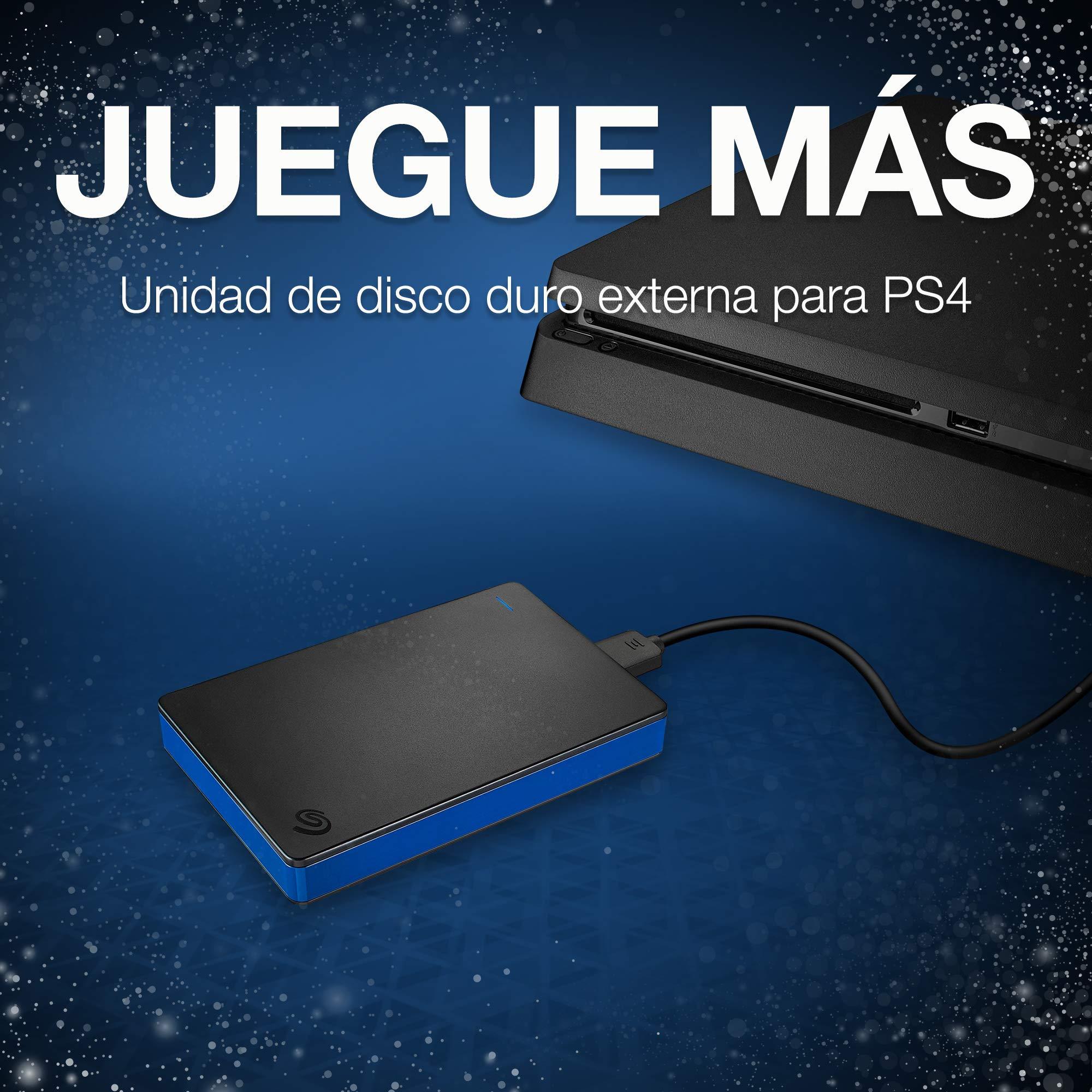 Seagate Game Drive, 1 TB, Disco duro externo, HDD portátil, compatible con PS4 (STGD1000100): Seagate: Amazon.es: Informática
