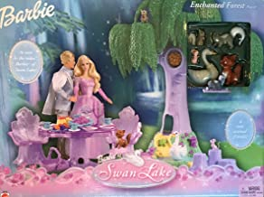 Barbie Swan Lake ENCHANTED FOREST Playset w 6 Animal Friends, Swing & MORE! (2003)