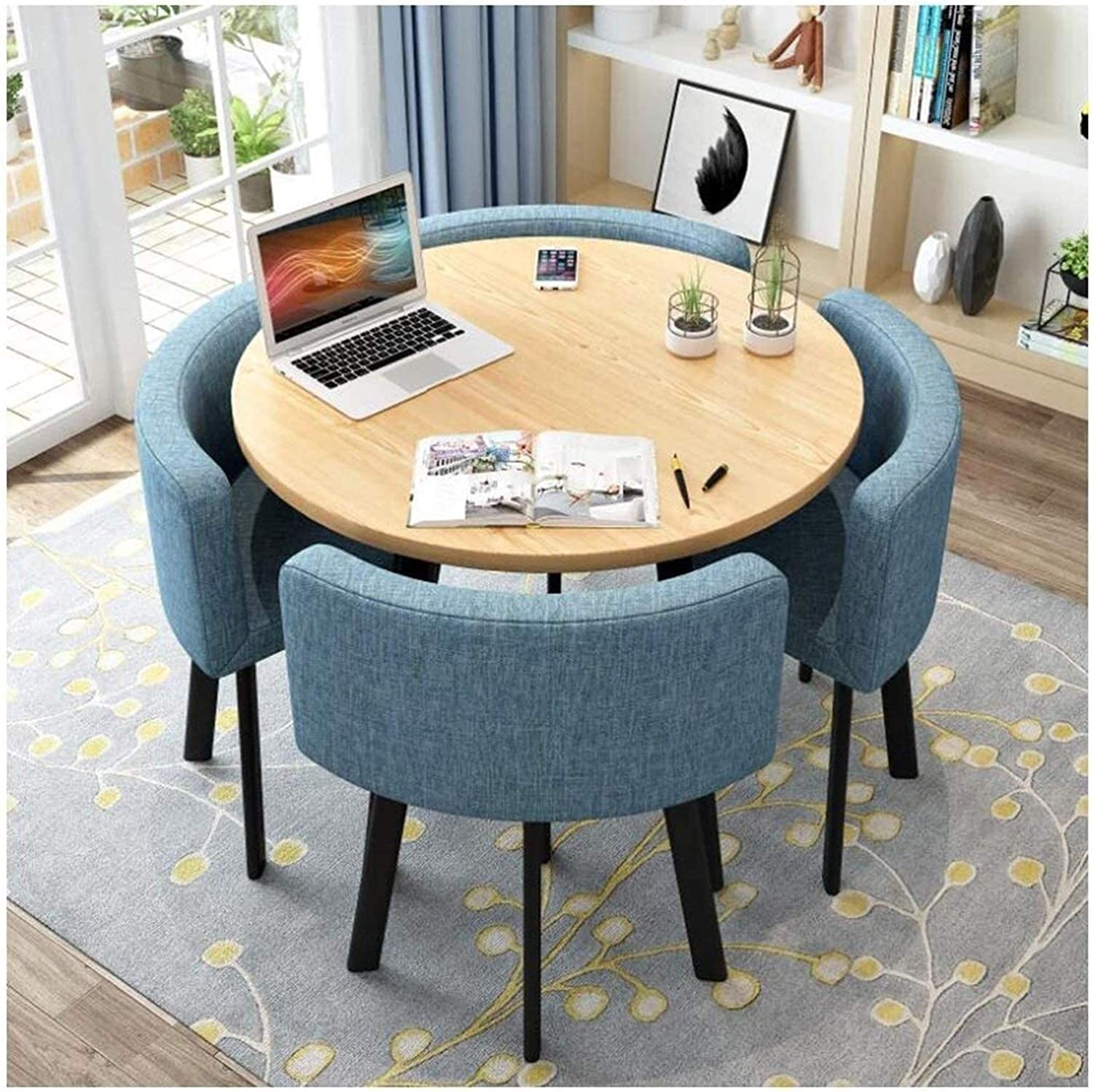 WANGLX Dedication Dining Table Set Credence for Kitchen and Round Furni Room