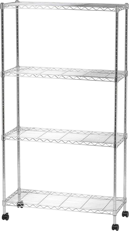 IRIS 4-tier Wide Wire Metal Shelving Unit
