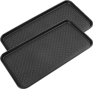 Zenn (2 PACK) Multi-Purpose Durable Black Tray 30