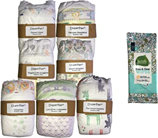 DiaperPax Diaper Variety Sampler Set, 7 Brands to Try in Ready-to-Wrap Gift Box (Newborn)