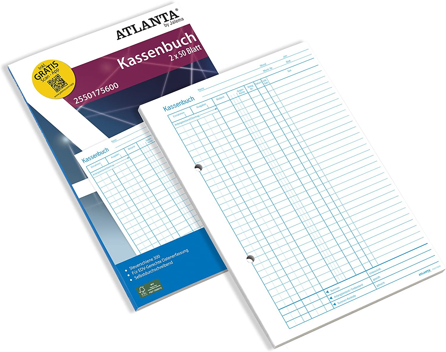Jalema 2550175600Cash Columns Account Quality inspection Book A4Self Popular overseas Copying