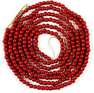 CraftMore Red Bead Christmas Garland 10 Feet