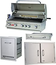 Bull Outdoor Products 5 Burner Brahma Propane Outdoor Grill w/Accessory Package