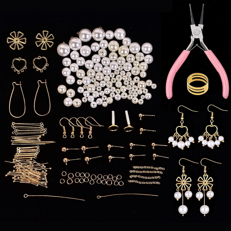 YUN CHANG 10 Pairs Pearl Tucson Mall Beads Makin half Dangle Jewelry Drop Earring
