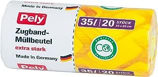 Pely/® Bolsas Org/ánicas de Papel Capacidad 10 Litros Pack Econ/ómico de 100 Unidades 100/% Papel Reciclado