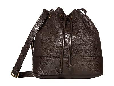 FRYE AND CO. Piper Bucket Bag (Chocolate) Handbags