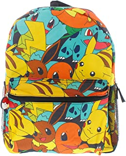 "Pokemon 16"" Canvas Backpack – School Bag"