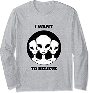 ROCKSTAR Alien Collection - Greys - I Want to Believe Long Sleeve T-Shirt