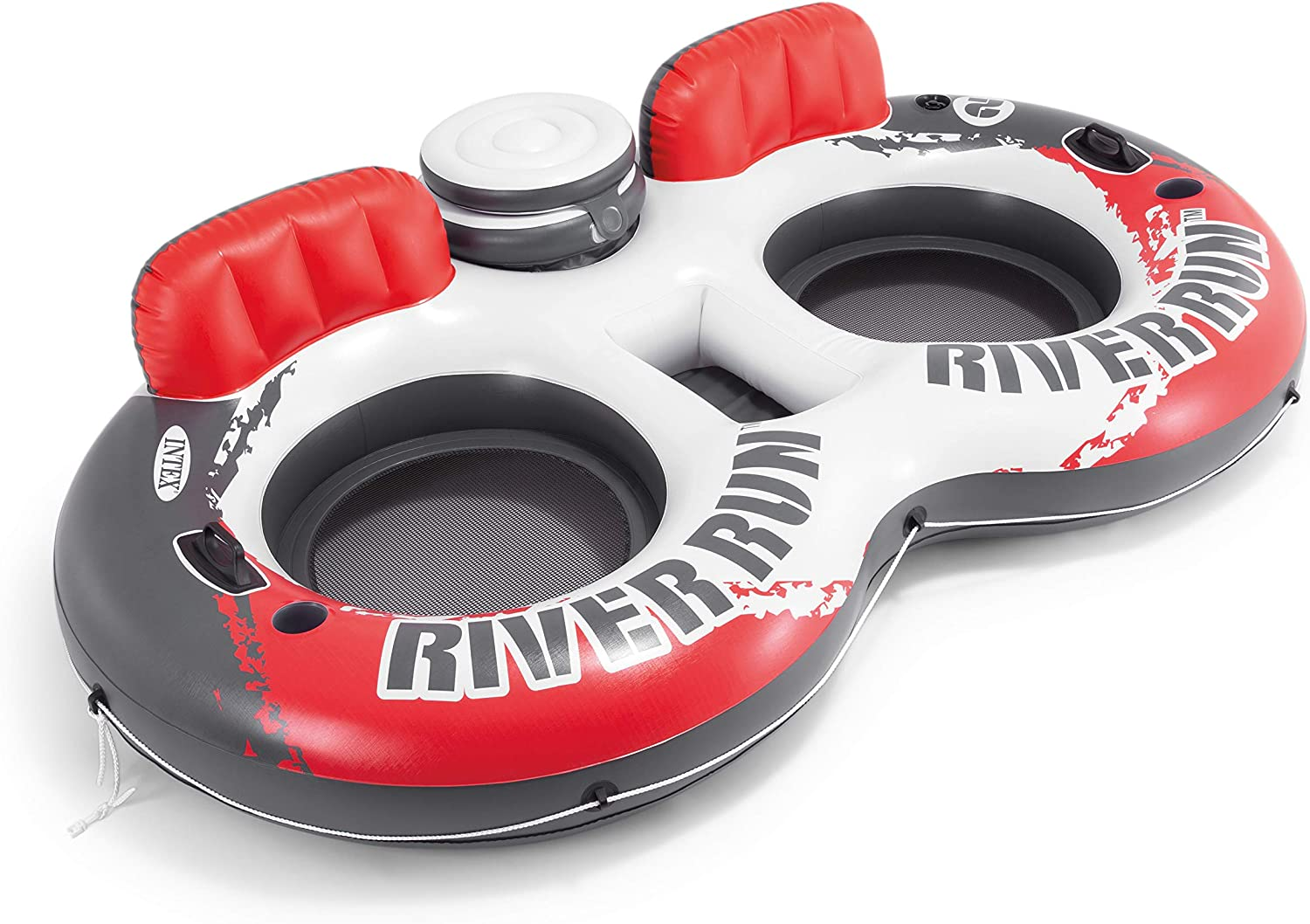 2 Pack Intex American Flag 2 Person Float w// River Run 1 Person Tube 2 Pack