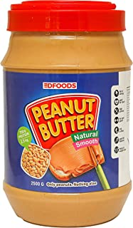 DFOODS All Natural Peanut Butter (Smooth) (2.5kg) | Unsweetened | 700g Protein | Non GMO | Gluten Free | Vegan | Cholester...