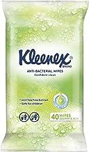 KLEENEX Facial Out of Home Kleenex Anti-bacterial Wipes, Pack of 40, 0.206 kilograms